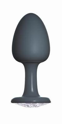 Geisha buttplug met Diamant by Dorcel, Large, zwart