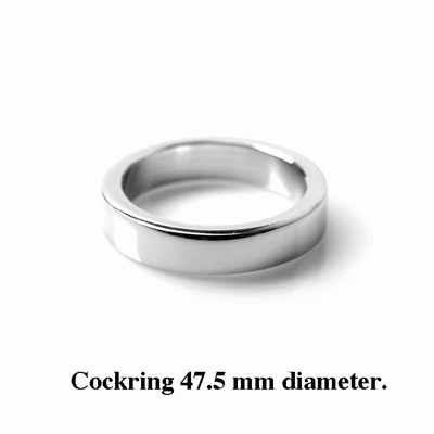 Cockring / Penisring 12 mm hoog, 4 mm dik, 47.5 mm diameter