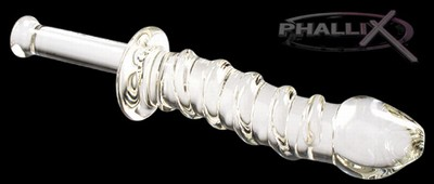 Phallix Clear Spiral Wrapped Baton