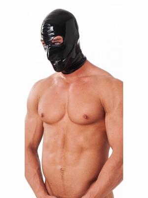 Latex hoofd masker met oog en mond gaten in S/M en M/L