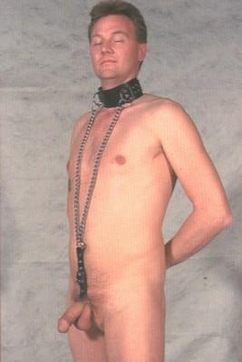 Halsband met ketting en cockring