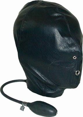 Opblaasbare lederen hood, one size fits most