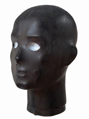 Anatomische dunne rubberen hood met neus en oog gaten.