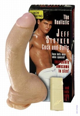 Dildo Jeff Stryker. Vibro Realistische Dildo & Ballen, 26 cm