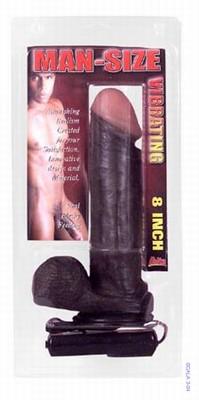 20 cm lange Man Size Black realistische cock