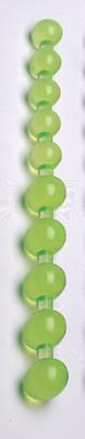 Jumbo Jelly Thai Beads, anaalballen, groen