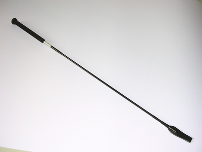 Paardrijzweep 75 cm met flapje