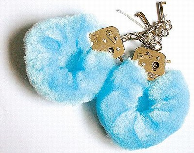 Fluffy Bont Handboeien, Blauw