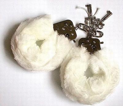 Fluffy Bont Handboeien, Wit