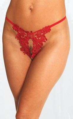 open G-string, rood