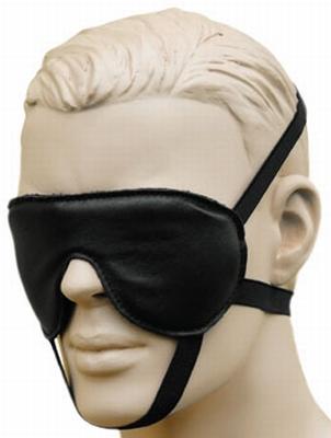 Blinddoek van Leder met 3 bevestigings banden