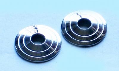 Kleine tepelschijven, RVS, gegroefd, 3 cm