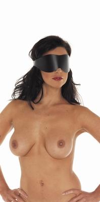 Lederen blinddoek, basic, zwart