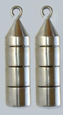 Gewichten toren, 100 gram (4 x 25 gram), per 2 stuks