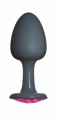 Geisha buttplug met Robijn by Dorcel, Medium, zwart