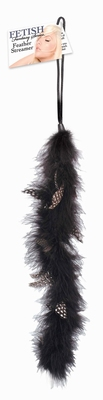 Fetish Fantasy Feather Streamer, zwart
