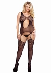 Bodystocking met kousen / Suspender Bodystocking - plus size