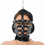 Riemen masker met ophangring aan bovenzijde