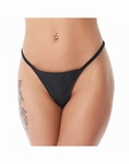 Lederen dames G-string, one size fits most, zwart