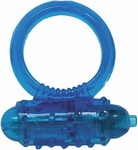 Soft Silicone Vibrerende Cockring blauw