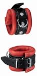Handboeien met karabijhaak, luxe,  Zwart/Rood